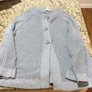 Gray stoop neck sweater